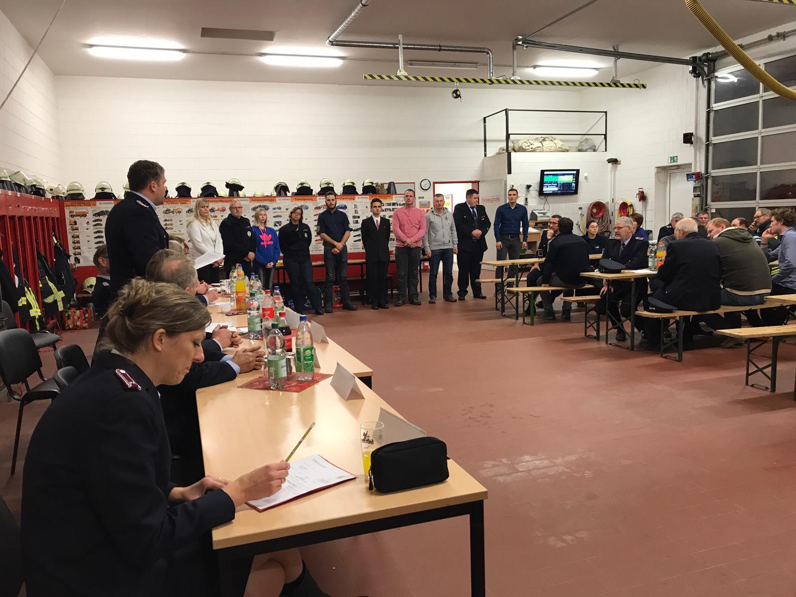 Aufnahme neuer Kameraden durch die Mitgliederversammlung