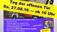 Safe the Date, wie man so Neudeutsch sagt! Die Gemeindefeuerwehr veranstaltet am 27.08.2016 ab 10:00 Uhr auf dem Gelände des Gerätehauses in der Kröpeliner Schulstrasse […]