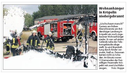 Artikel Ostsee-Zeitung 30.07.2010